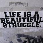 Life is a beautiful struggle.