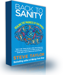 The book cover of 'Back to Sanity', by Steve Taylor.