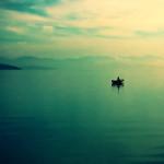 A calm lake.