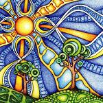 A psychedelic landscape.